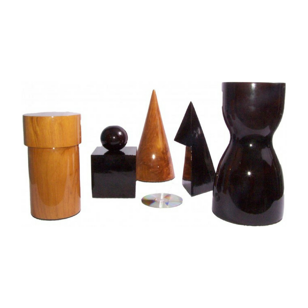 five timber giant chess pieces with a cd