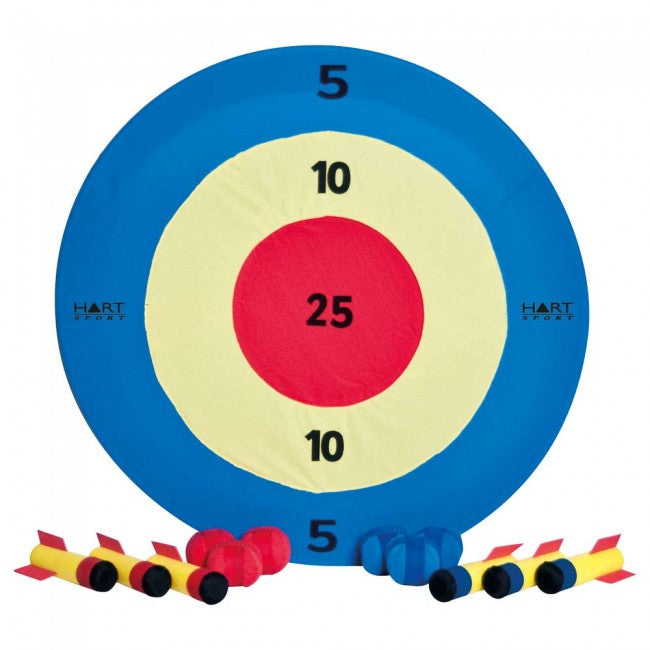 blue red and white soft outdoor darts throwing game for kids