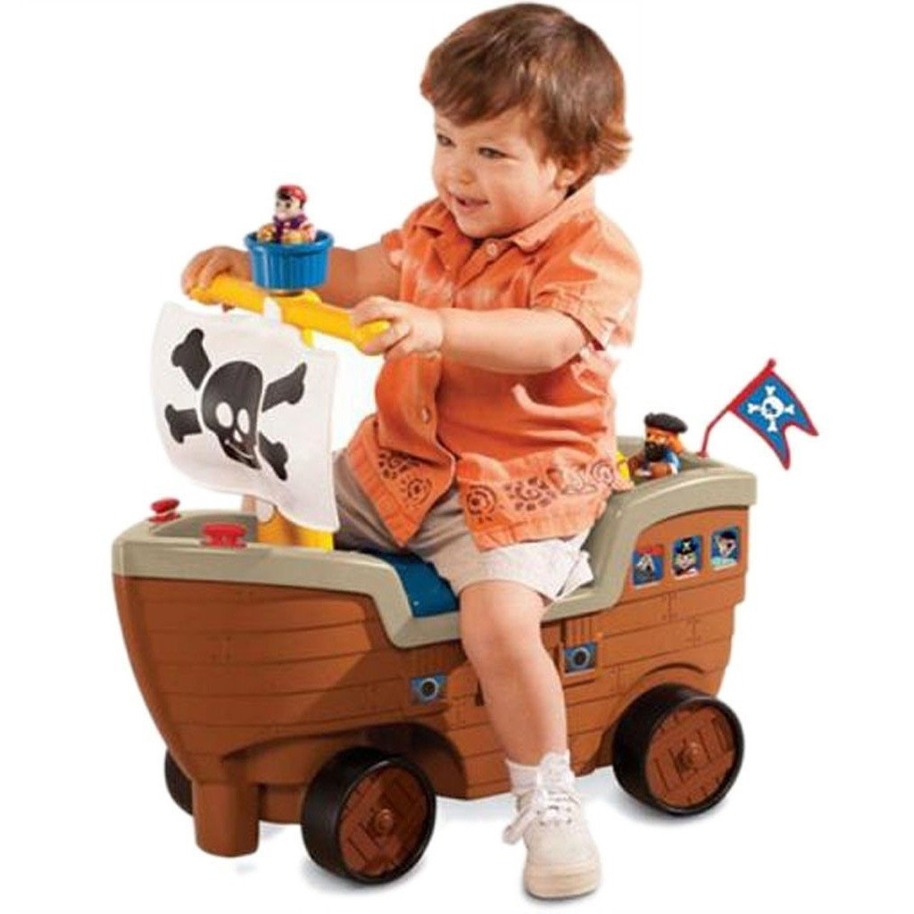 kids ride on pirate push kart