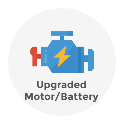 Upgraded motor battery