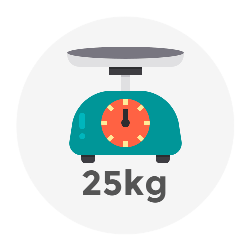Weight Up to 25kg