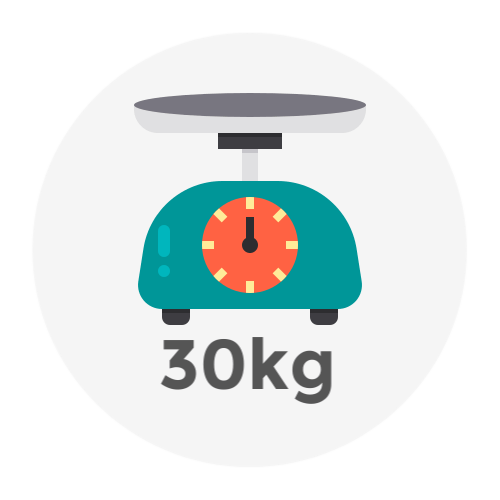 Weight Up to 30kg