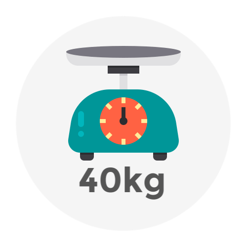 Weight Up to 40kg