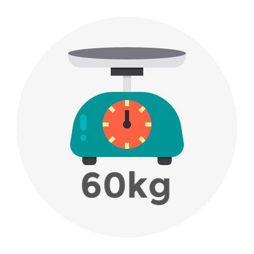 Weight Up to 60kg