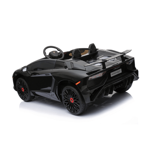 Lamborghini 12v Kids Ride-On Car w/ Upgraded Motor & Remote - Black