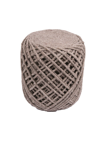 Wool Twist Pouf