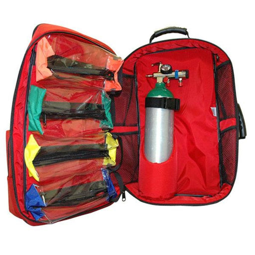 O2 Trauma AED Backpack  (Red)