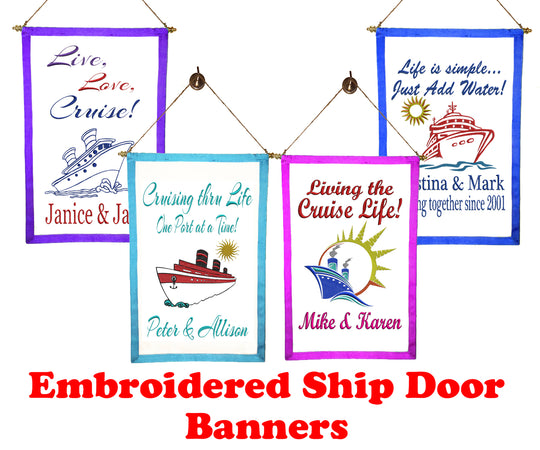 Embroidered Door Banners