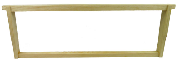 Langstroth Super Frame - Groove Top Bar & Groove Bottom Bar / No Hole End Bar - For Beeswax Coated Plastic Foundation