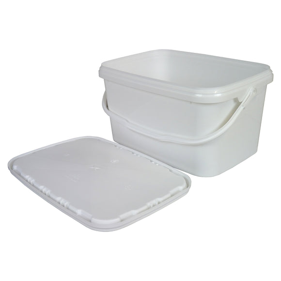 Small Plastic Rectangle Bucket/Tool Tub With Lid