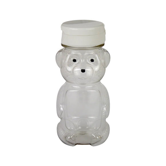 6oz Teddy Bear With Lid, 24 Pack - Bee Equipment