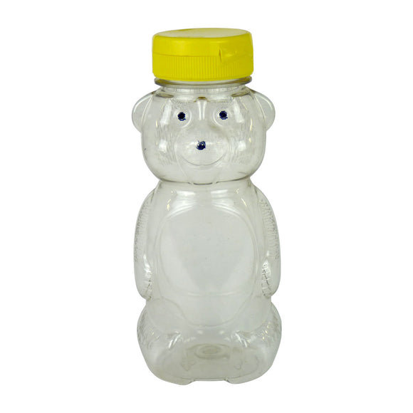 12oz Teddy Bear With Lid, 24 Pack - Bee Equipment