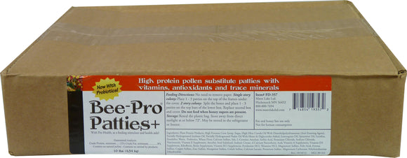 Bee Pro Plus Patties, 10lb - Bee Equipment