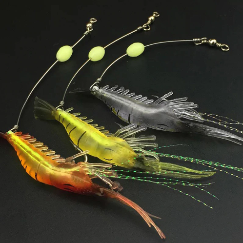 Natural Lifelike Shrimp Soft Lures