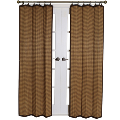 Bamboo Ring Top Curtain Panel Colonial Brown
