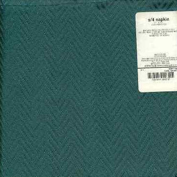 Fabric Cloth Napkins Herringbone Green Set of 4