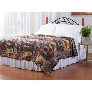Bear Mountain Lodge Adirondack Quilt Twin Full Queen King Explore The Wilderness