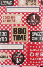 Best BBQ in Town Red Gingham Check Vinyl Flannel Back Tablecloth 60 inch Round