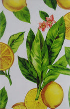 Elrene Lemon Zest vinyl flannel back tablecloth 52 x 70 Oblong
