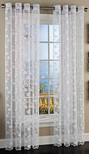 Lorraine Fish Tales Grommet Panels Curtains 63L White Nautical Sea Star Set of 2
