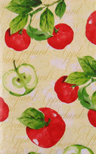 Elrene Orchard Apples Vinyl Flannel Back Tablecloth 60 Round