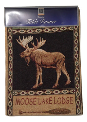 Windham Tapestry Table Runner 13 x 72 Lake Moose Lodge