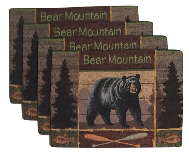 Windham Black Bear Mountain Tapestry Placemats Set of 4