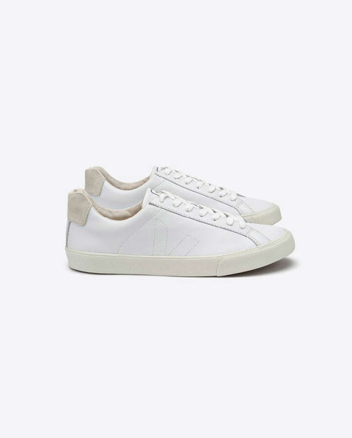 Veja Esplar leather trainers white on white