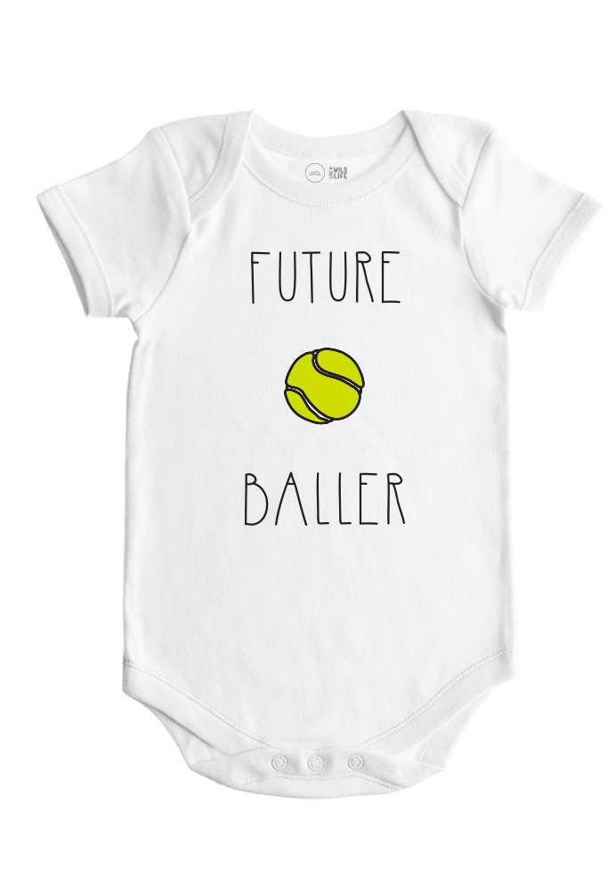 Tennis Baby Bodysuit - Future Ballers Collection