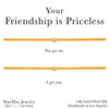 yellow friendship bracelets 2-set nylon cord adjustable friendship bracelets by MaeMae Jewelry