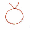 red nylon cord bracelets 14k gold filled bead friendship affirmation jewelry