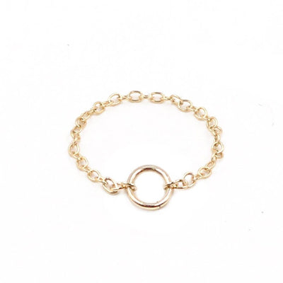 14k gold filled open circle charm ring - MaeMae Jewelry