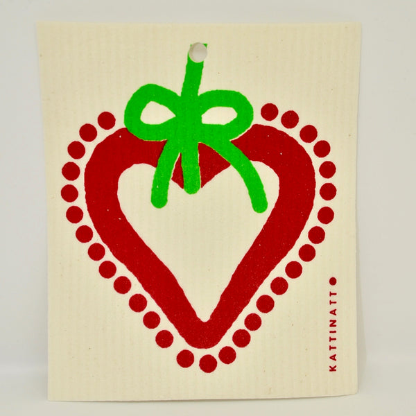 Holiday Heart Dishcloth