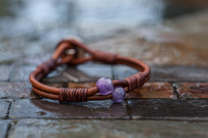 Amethyst 'Tree of Life' SS Bracelet