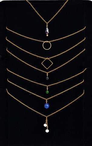 Gold Layering Resonance Necklaces