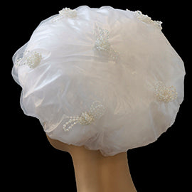Pearl Bows Shower Cap