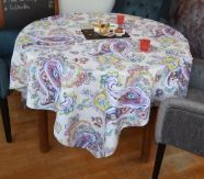 Fleur de Perse Coated Tablecloth