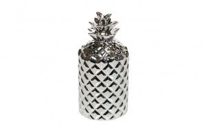 White Tea & Mint Silver Pineapple Candle