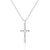 CZ Cross Necklace Christian Religious Jewelry