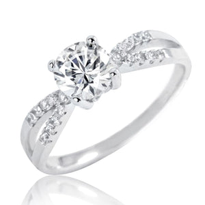 Gracious 1.4 Ct Brilliant CZ Silver Ring Wholesale Lots 2