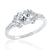 Beautiful 925 Sterling Silver 6mm Cubic Zirconia Ring Wholesale Lots