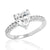 Sterling Silver Heart Cut Cubic Zirconia Ring Wholesale Lot