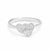 Sterling Silver CZ Beautiful Three Heart Ring Wholesale Lots