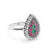 Multi Color Crystal Vintage Silver Ring Wholesale Lots 2