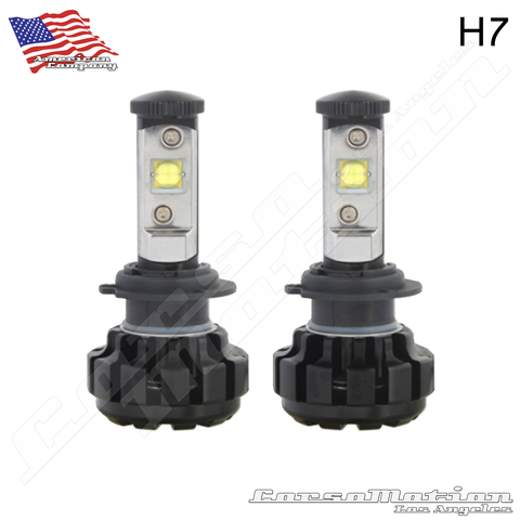 H7 CREE LED Headlights, 60W/Set, 7200LM/Set, 12V 24V | PAIR