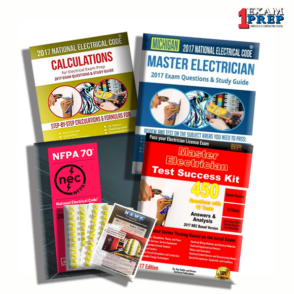 Michigan Master Electrician Exam Prep Package