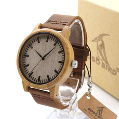 Image of BOBO BIRD Men Bamboo Fashion Watch Leather