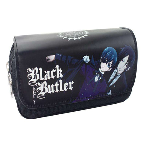 Anime Black Butler Style Zipper Pencil Case Cosmetic Pouch Wallet Purse Bag - Coolmart.us