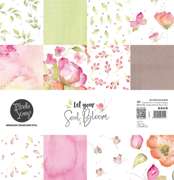 MODASCRAP - PAPER PACK LET YOUR SOUL BLOOM 12x12