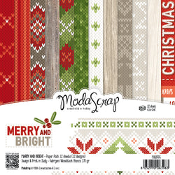 MODASCRAP - PAPER PACK MERRY AND BRIGHT 6x6